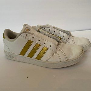 Adidas Sneakers Shoes Kid Girl Boy Leather Gold